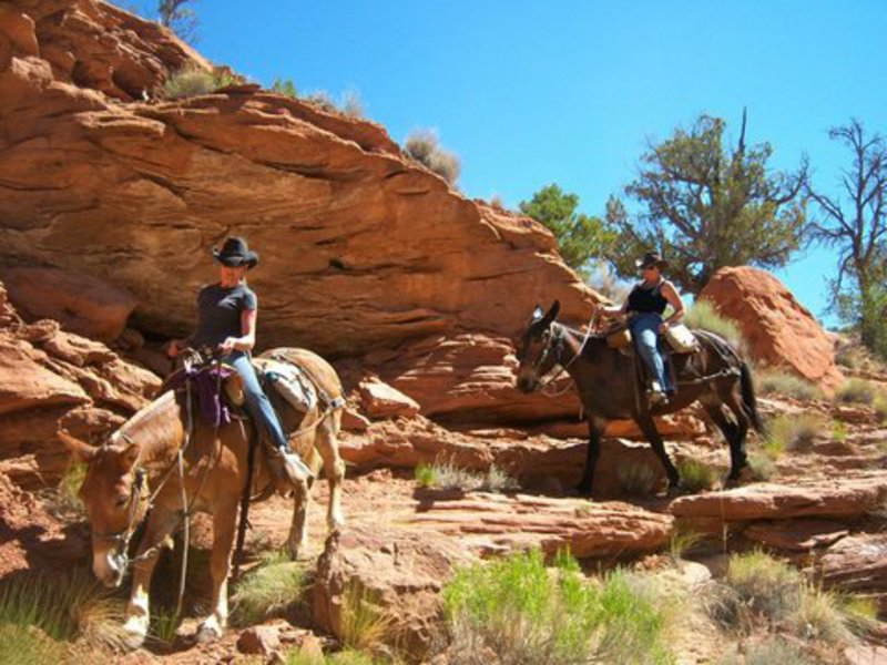 6-Riding beneath the rock walls